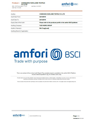 BSCI 社會責任驗廠認證